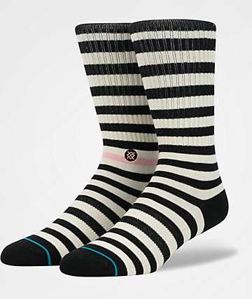 Stance Honey Black & Cream Crew Socks