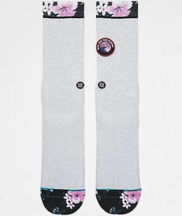 Stance With Love Grey Crew Socks