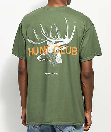 Stoney by Post Malone Big Buck Hunt Club Green T-Shirt