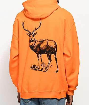 Stoney by Post Malone Big Buck Hunt Club Orange Hoodie