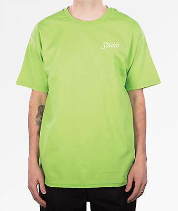 Studio Small Script Lime T-Shirt