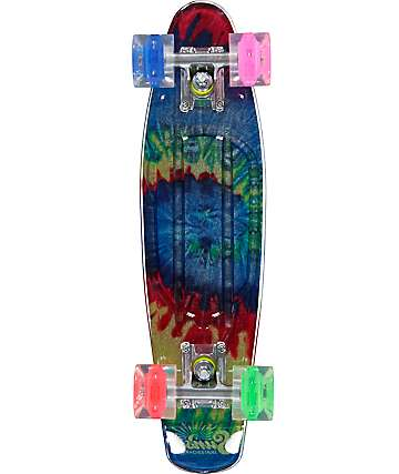 "Sunset Tie Dye Gripped 22""  Cruiser Complete Skateboard"