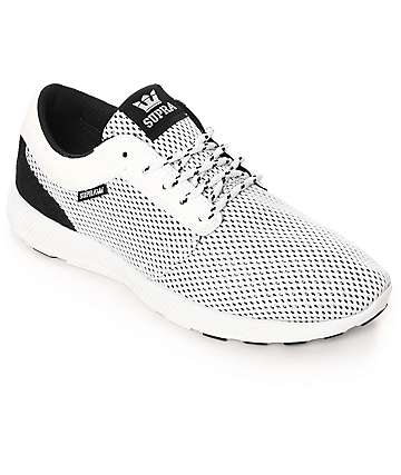 Supra Hammer Run White & Black Mesh Shoes