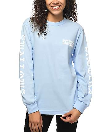 Swallows & Daggers Fuck Pablo Light Blue Long sleeve T-Shirt
