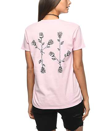 Swallows & Daggers Roses Dusty Pink T-Shirt