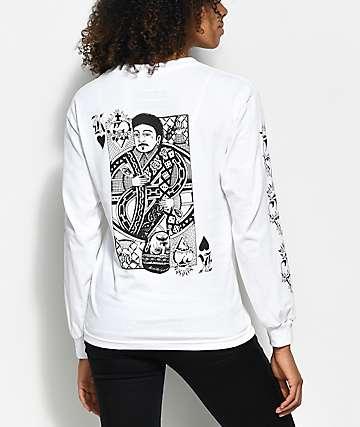 Swallows & Daggers x Rose Whittaker King White Long Sleeve T-Shirt