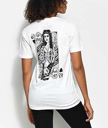 Swallows & Daggers x Rose Whittaker Queen White T-Shirt