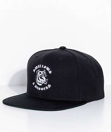 Swallows & Daggers Dog Black Snapback Hat