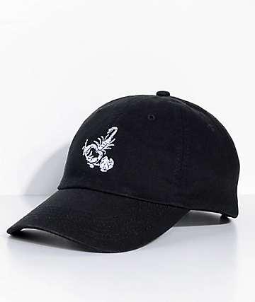 Swallows & Daggers Scorpion Rose Black Dad Hat