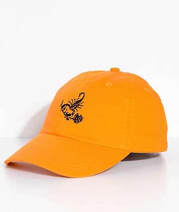 Swallows & Daggers Scorpion Rose Orange Dad Hat