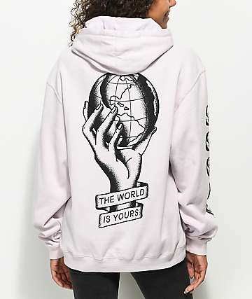 Swallows & Daggers The World Is Yours Lavender Hoodie