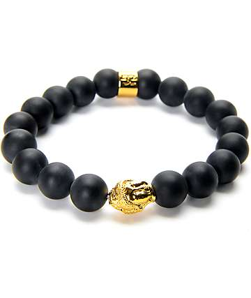 The Gold Gods Buddha Black Bracelet