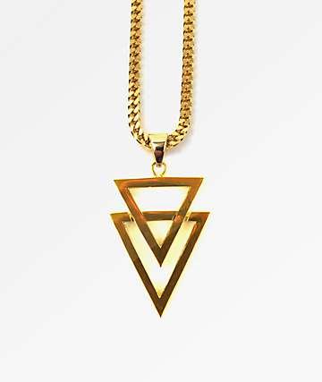 "The Gold Gods Dual Arrow 22""  Necklace"