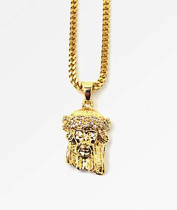 The Gold Gods Gold Jesus Piece
