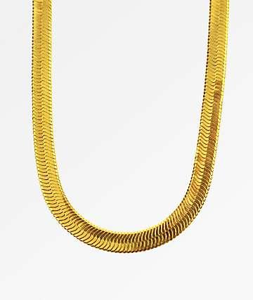 The Gold Gods Herringbone Chain