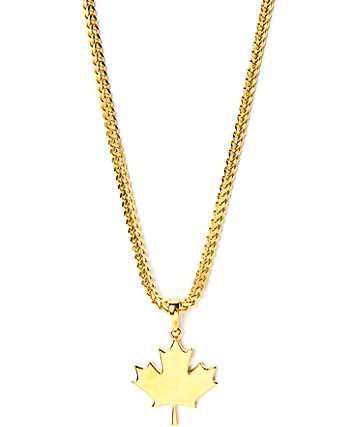 The Gold Gods Maple Leaf Gold Necklace
