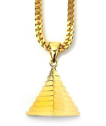 The Gold Gods Micro Pyramid Gold Necklace