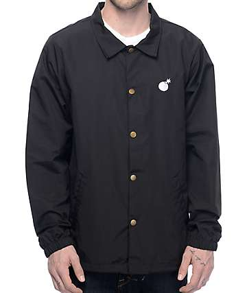 The Hundreds Bar Black Coaches Jacket