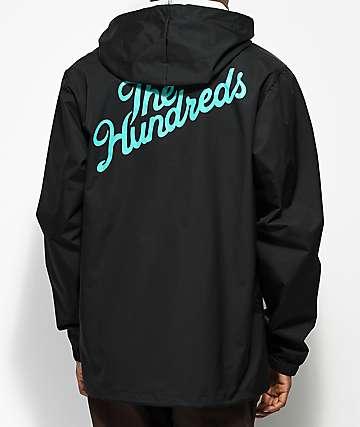 The Hundreds Forever Slant Black Hooded Coach Jacket