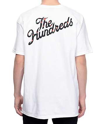 The Hundreds Rose Fill Slant White T-Shirt