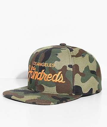 The Hundreds Team Camo Snapback Hat