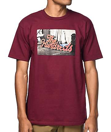 The Hundreds Warehouse Burgundy T-Shirt