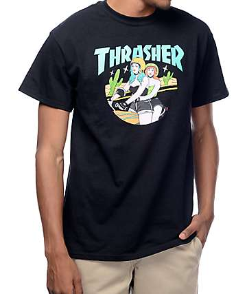 Thrasher Babes Black T-Shirt
