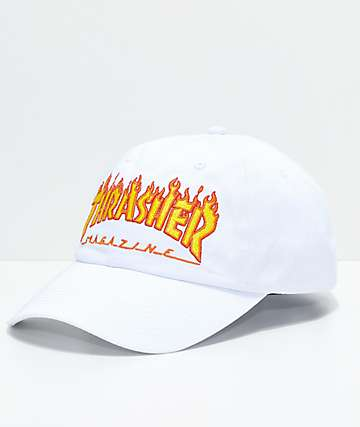 Thrasher Flame White Old Timer Hat