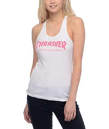 Thrasher Girls Magazine White Logo Tank