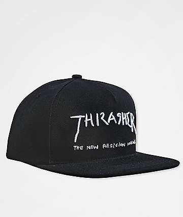 Thrasher New Religion Black Snapback Hat