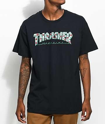 Thrasher Roses Black T-Shirt