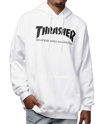Thrasher Skate Mag White Pullover Hoodie