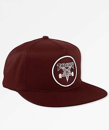 Thrasher Skategoat Maroon Snapback Hat