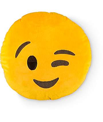 Throwboy Emoji Wink Pillow