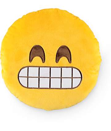 Throwboy Grin Emoji Pillow