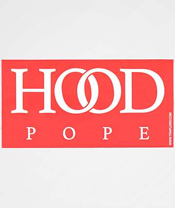 Trap Lord Hood Pope Red Sticker