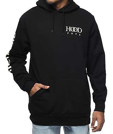 Traplord Hood Pope Black Hoodie