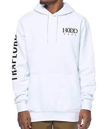 Traplord Hood Pope White Hoodie