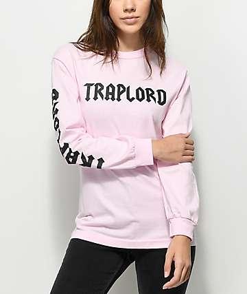 Traplord Logo Pink Long Sleeve T-Shirt