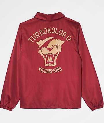 Turbokolor Co. Herald Burgundy Coaches Jacket
