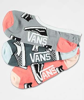 Vans 3 Pack So Classic Canoodle No Show Socks