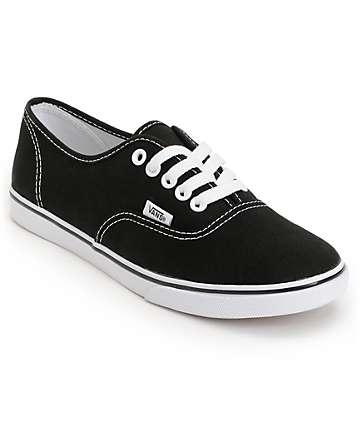 Vans Authentic Lo Pro Black Shoes (Womens)