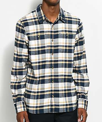 Vans Banfield II Khaki & Blue Flannel Shirt
