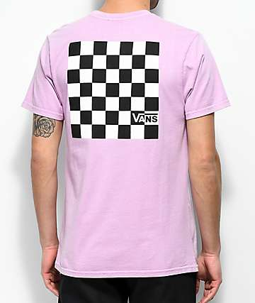 Vans Black & White Checker Orchid T-Shirt