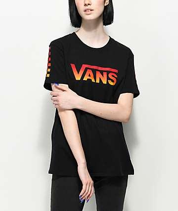 Vans Black Gradient Checker T-Shirt