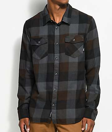 Vans Box Black & Grey Flannel Shirt