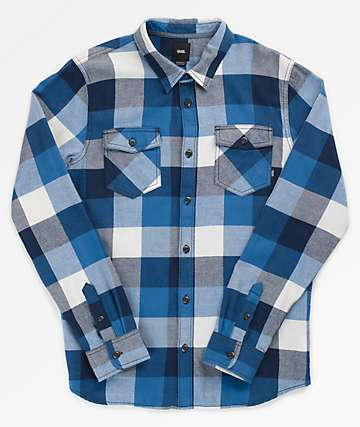 Vans Box Blue & White Flannel Shirt
