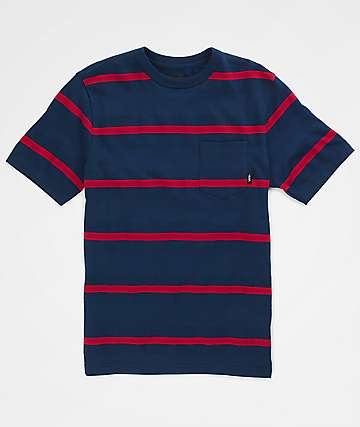 Vans Boys Chadron Dress Blues & Chili Pepper T-Shirt