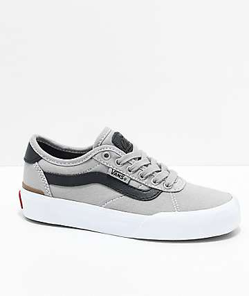 Vans Boys Chima Pro 2 Drizzle & Black Skate Shoes