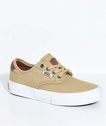Vans Boys Chima Pro Reptile Khaki Canvas Shoes